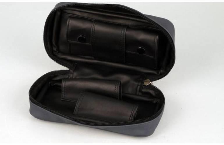 pfeifentasche lederoptik graublau f r 2 pfeifen. Black Bedroom Furniture Sets. Home Design Ideas