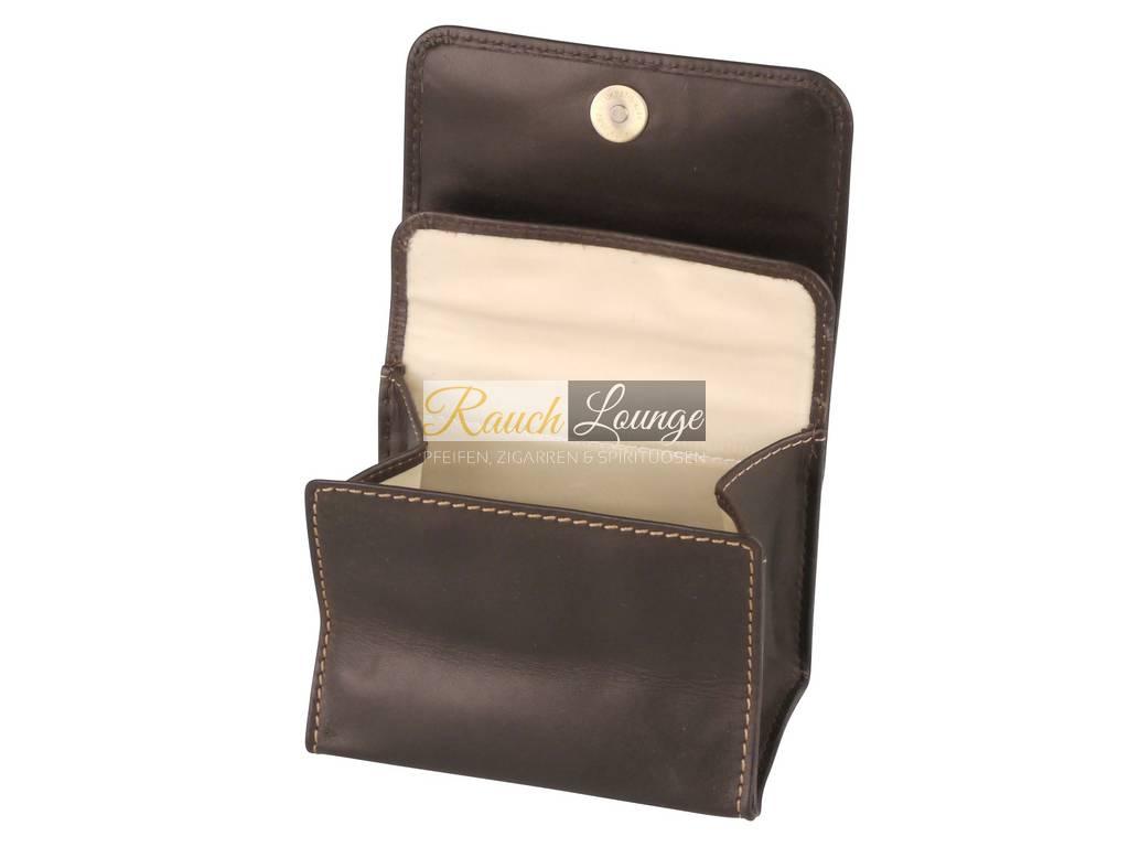 tabakstellbeutel leder braun beige steppung tabakbeutel. Black Bedroom Furniture Sets. Home Design Ideas
