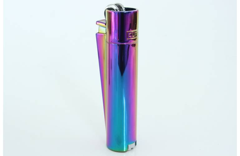 Clipper Feuerzeug Metall Icy Color Rainbow