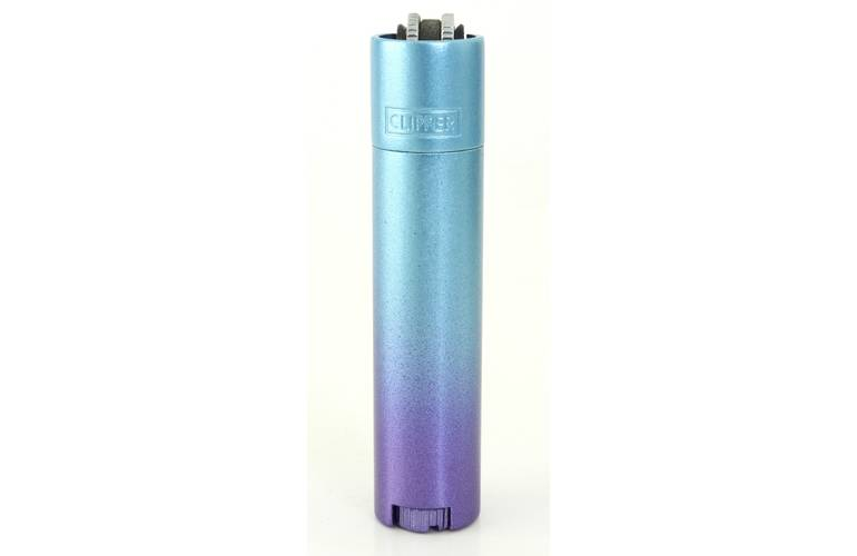 Clipper Feuerzeug Metall Blue Gradient