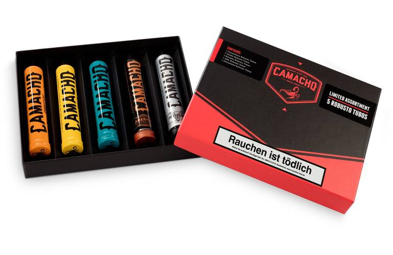 Camacho Sampler Robusto Tubos Limited Assortment