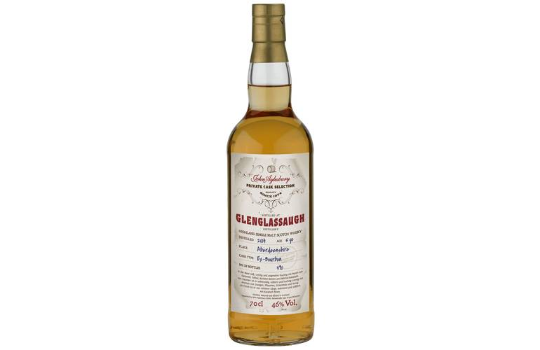 John Aylesbury Private Cask Selection Glenglassaugh 5 Jahre Single Malt Whisky 46% 0,70l