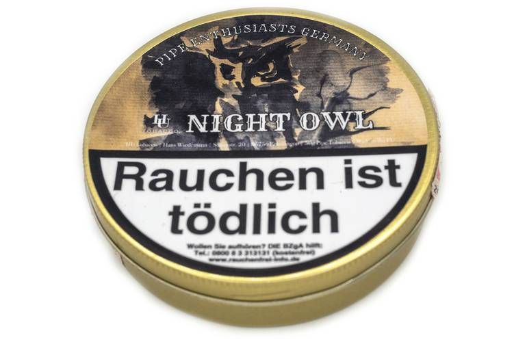 HU Tobacco Pipe Enthusiasts Germany Night Owl
