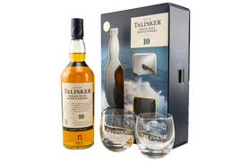 Talisker mit 2 Gläsern 10 Jahre Single Malt Scotch Whisky...