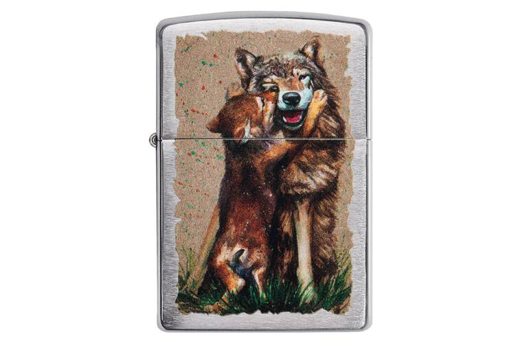 ZIPPO Feuerzeug Wolf and Pup - 60004850
