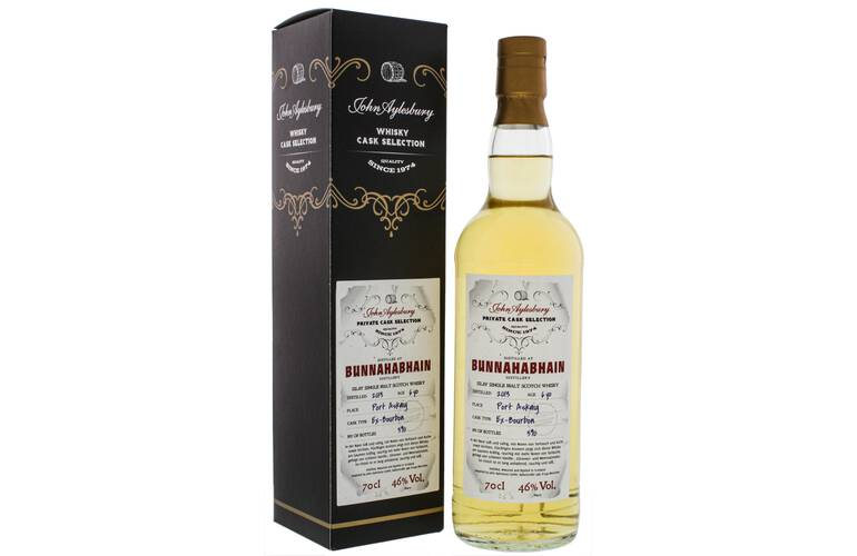John Aylesbury Private Cask Selection Bunnahabhain 6 Jahre Single Malt Whisky 46% 0,70l