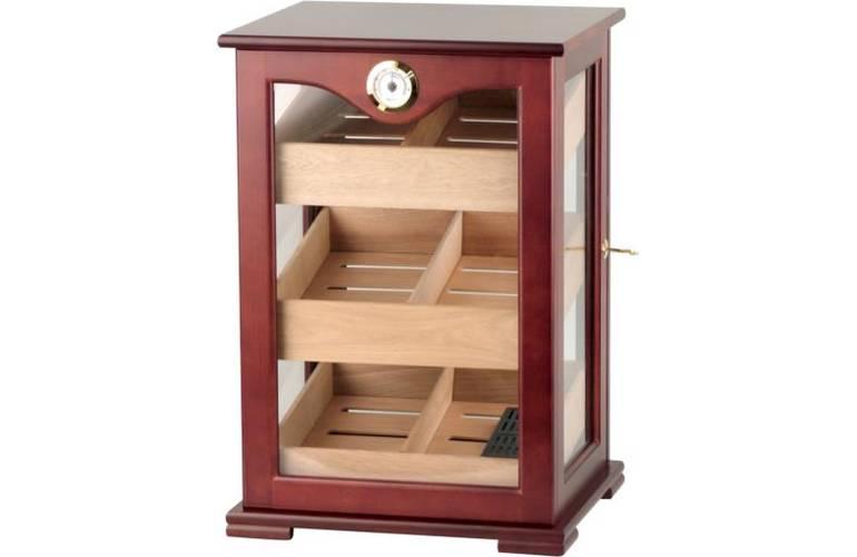 humidor schrank kirschbaumoptik abschlie bar. Black Bedroom Furniture Sets. Home Design Ideas
