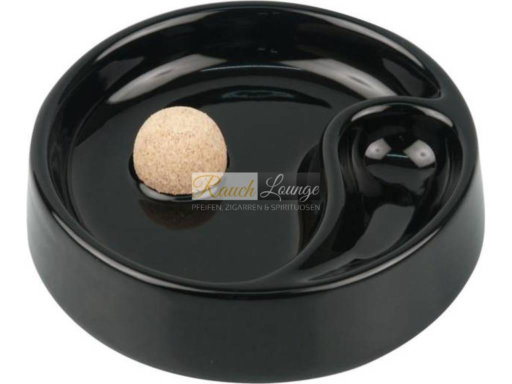 pfeifenaschenbecher keramik schwarz matt mit 1 ablage. Black Bedroom Furniture Sets. Home Design Ideas